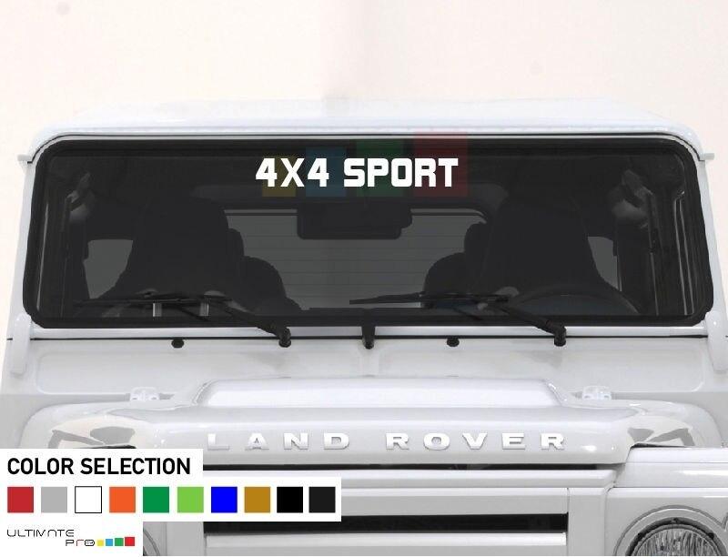 Per parabrezza decalcomania del vinile FROND banner per Land Rover defender 110 130 4X4 SPORT di