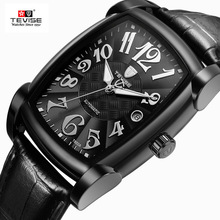 TEVISE Automatic Mechanical Watch Full Black Men Waterproof Business Wristwatch Watches
