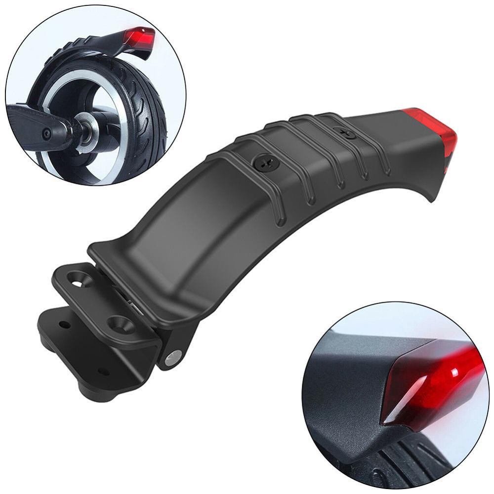 Mudguard Frame Electric Scooter Replacement Parts Black Scooter Rear Wheel Brake Fender W/ Safe Light For Xiaomi Mijia M365