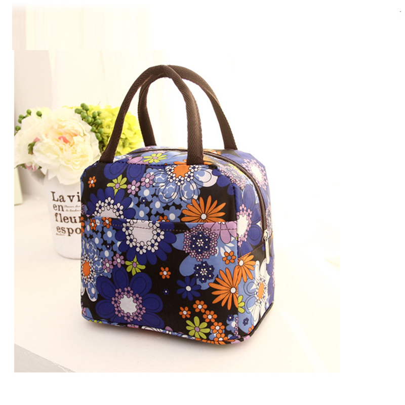 Colorful Lunch Bag Wave Dot Lonchera Food Bag Portable Bento Lunch Bags For Women Portable Carry Tote High Quality