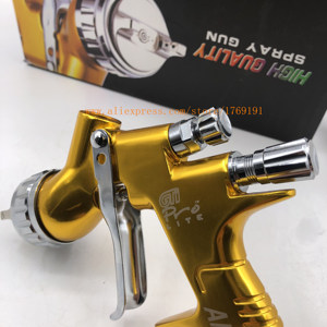 Image 2 - High quality professional Gti pro lite golden painting gun TE20 / T110 1.3mm nozzle spray gun paint gun waterbased air spray gun