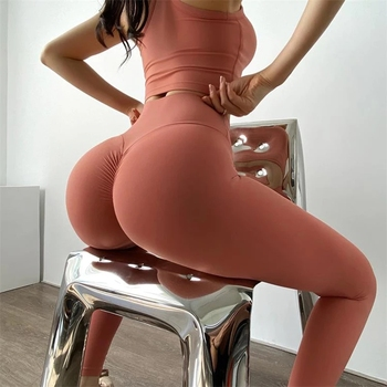 Women Leggings Yoga Pants Tights Seamless Solid Color High Waist High Elastic Women's Sports Pants