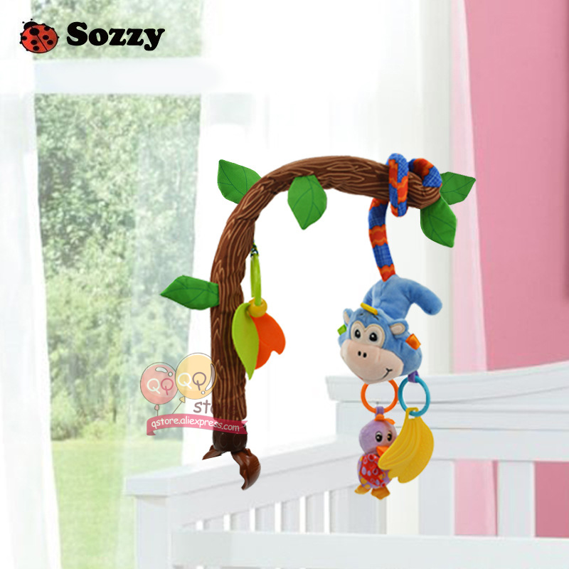 Sozzy Baby Plush Stuffed Animal Take A Long Mobile Soft Bed Crib Rattle Teether Toys For Children Gift Money Frog 0-12 Months
