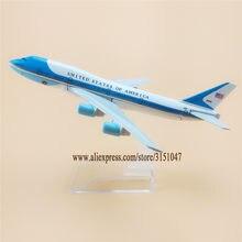 16cm estados unidos da américa força aérea um b747 boeing 747 companhias aéreas modelo de avião modelo de avião liga metal fundido aeronaves