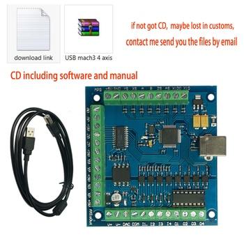 CNC MACH3 USB 4 Axis 100KHz USB CNC Smooth Stepper Motion Controller card breakout Control board for DIY Mini CNC Engraving Mach mach3 usb interface board carving cnc controller motion control card 2000khz 6 axis board