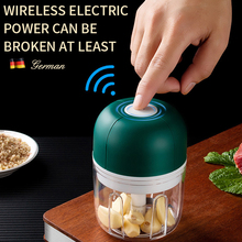 Wireless Electric Garlic Press Household Portable Meshed Garlic Device Mini Meat Grinder Baby Complementary Food Mixer Grinding