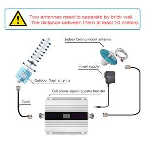Image 5 - DCS 1800 MHZ 4G wzmacniacz sygnału komórkowego wyświetlacz LCD telefon komórkowy wzmacniacz sygnału antena Yagi + sufit koncentryczny anteny kabel