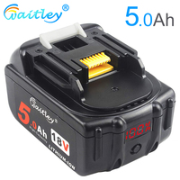 Waitley BL1850 18V 5.0Ah Replacement Battery for Makita 5000mah BL1840 BL1850 BL1860 Battery with LED Power Display 18 v 5A