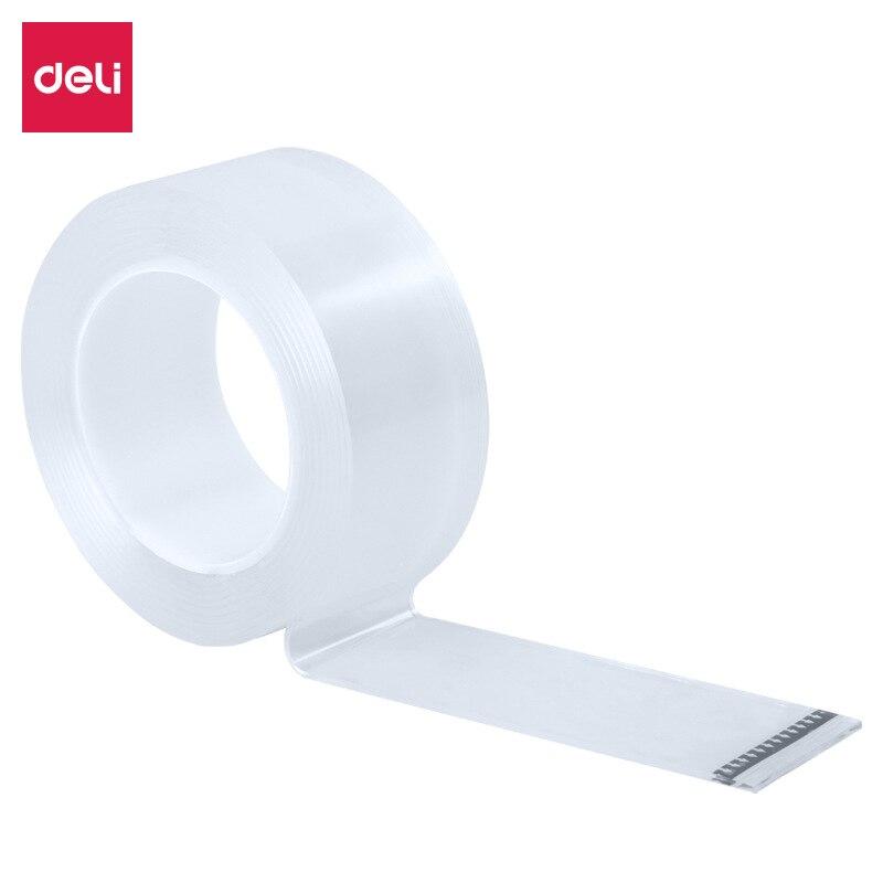 Deli 33604 Nanometer Adhesive Tape Online Celebrity Seemless Nanometer Adhesive Tape Million Times Transparent Washing Douyin Ce