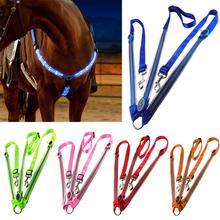 Ночной Видимый светодиодный нагрудный ошейник для лошади, светящийся нагрудный ремень для лошади, защитное снаряжение для конного спорта, нагрудный ошейник для лошади