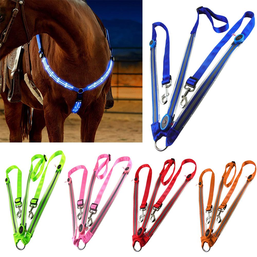 Night Visible  LED Horse Chest Collar  Collar Luminous Horse Chest Strap Equestrian Protective Equipment Horse Chest Collar