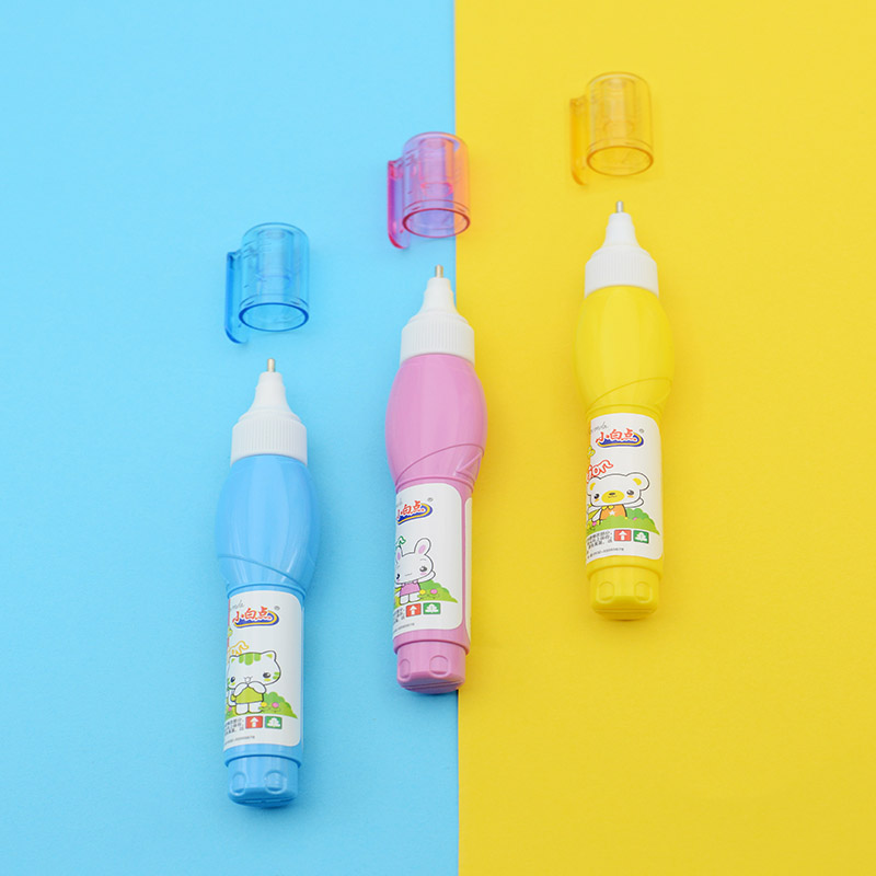 Kawaii Cartoon Correction Fluid Tricolor Little White Dot CP147 Office Students School Supplies Large Capacity Quick-Drying