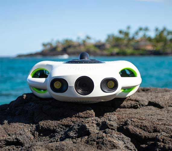 ROV BW SPACE Underwater Robots Drone With 9600mah Battery And Auto Adjust Lighting