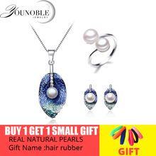 цены Beautiful Real Natural Pearl Jewelry Set Women,Wedding Freshwater Pearl Necklace Earring Set Anniversary Gift