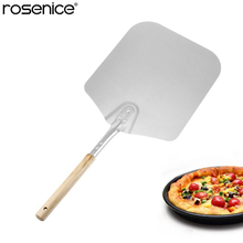 66 см Алюминиевая Лопата для пиццы с деревянной ручкой для Pala, инструменты для выпечки пиццы, аксессуары, нож для пиццы, нож для сыра, лопата для пилинга