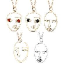Ажурное ожерелье с абстрактным лицом для женщин и девушек женское