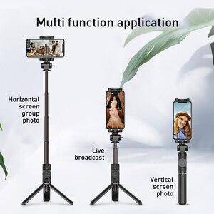 Image 2 - Беспроводная Bluetooth селфи палка Baseus для телефонов IOS Android складной ручной монопод с дистанционным управлением затвором раздвижной мини штатив