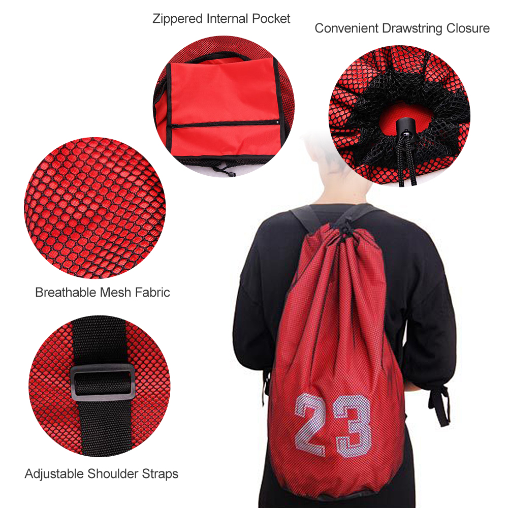Basketball Bags For Basketball Football Soccer Volleyball Bag Outdoor Sport Fitness Storage Messenger Training Storage Bag