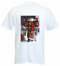 Classic Xmas Pin Up Girls Santa Chills Ding Dong Funny Father Christmas T Shirt Custom Special Print Tee Shirt(China)