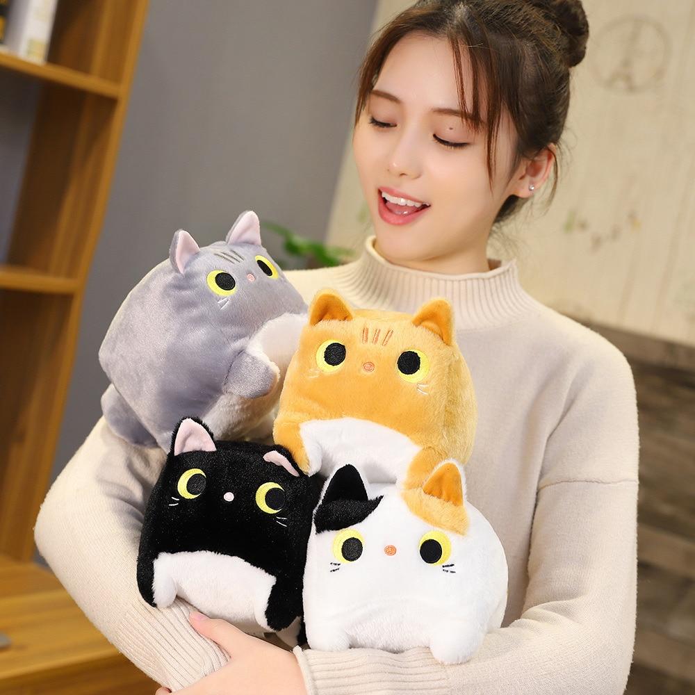 Japanese Anime Square  Cat Plush 3