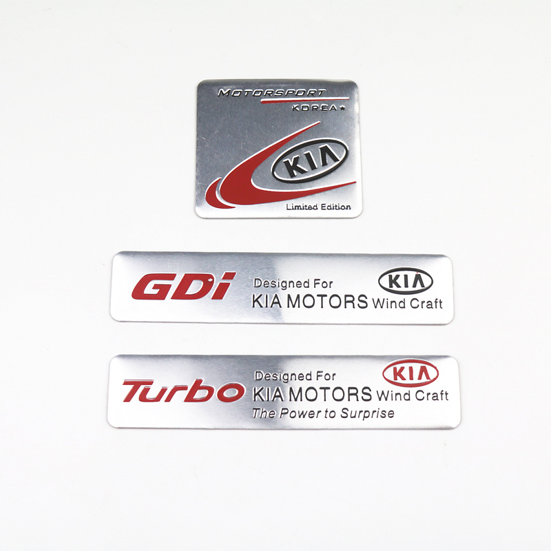 Car Styling 3D Aluminum Badge Emblem Sticker For KIA K2 K3 K5 Sorento Sportage R Rio Soul Decals Auto Accessories