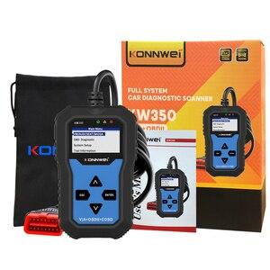 Image 5 - KONNWEI KW350 VAG arabalar için OBD2 aracı tam sistem teşhis aracı ABS hava yastığı sıfırlama yağ servis işık EPB sıfırlama fonksiyonu