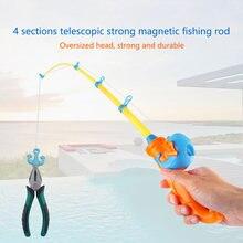 Детская игрушка сильная Магнитная Удочка Дельфин узор телескопическая