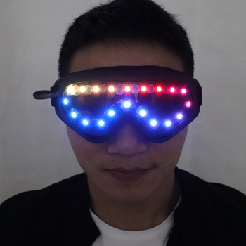 Full-color Smart Pixel LED Glasses, Luminous Party Sunglasses, Remote Control color-changing glasses built-in 200 effects