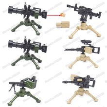 Military Machine Gun Weapons Building Blocks World War 2 Model Assembly Figures Special Forces soldier Child christmas Gift Toys