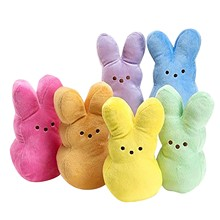 Toy Bunny Plush-Doll Stuffed Rabbit for Dogs Kids Interactive Easter Gift Soft Cushion