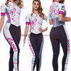 Macacão feminino triathlon profissional, roupa de ciclismo, camisa de manga curta, calça longa, macacão para andar de bicicleta 9