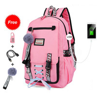 Large school bags for teenage girls with lock anti theft backpack women kids book bag big high school bag youth leisure college