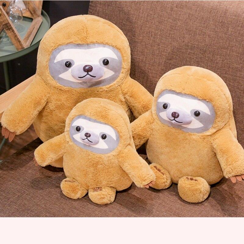 New Dumb Cute Red Toy Cute Sloth Doll Plush Doll Doll Hug Bear Doll Sloth Backpack Creative Funny Doll Children Boys And Girls B