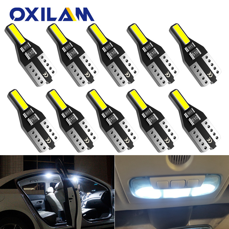 10x W5W LED T10 LED Interior Lighting For Volvo XC60 XC90 S60 V70 S80 S40 V40 V50 XC70 V60 C30 850 C70 XC 60  Led Car Lights