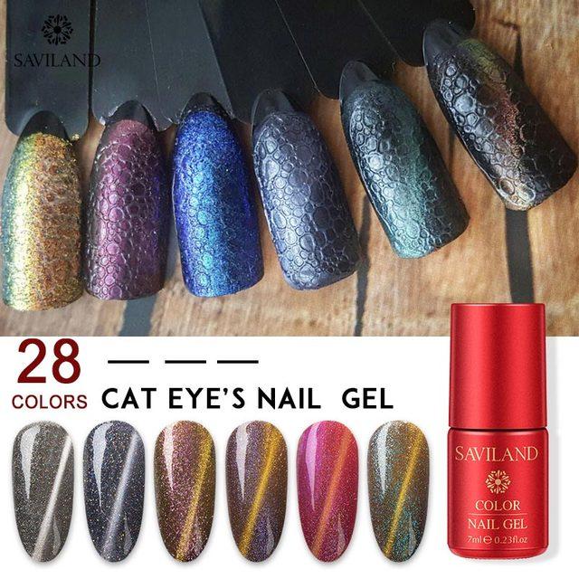 SAVILAND Cat Eyes UV Gel Soap Foam Bubble Nails 28 Colors Soak Off Gel Varnish Hybrid Semi-Permanent for Nails Need primer