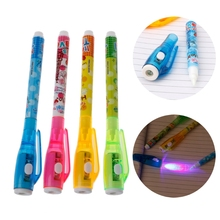 4PC Invisible Ink Pen Spy With Light Magic Marker Kid for Secret Message 634B
