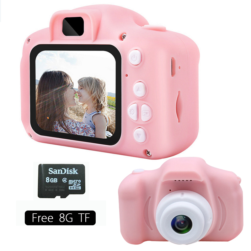 Mini Cartoon Cute Children's Digital Camera HD 13 Million Pixels 2.0 Inch HD Screen Rechargeable Children's Birthday Gift