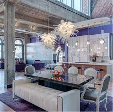 Modern LED Glass Chandelier Nordic Dining Room Kitchen Light Romantic Hanging Lamps Lustre Lighting