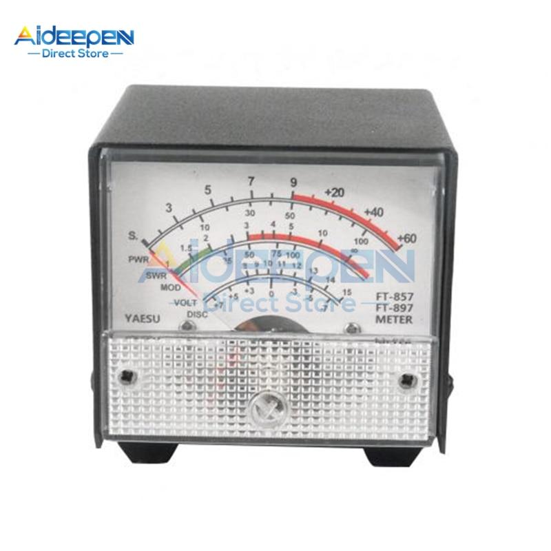 External S Meter /SWR / Power Meter Receive Display Standing Wave Meter FT-857 FT-897 857 897 Black/White