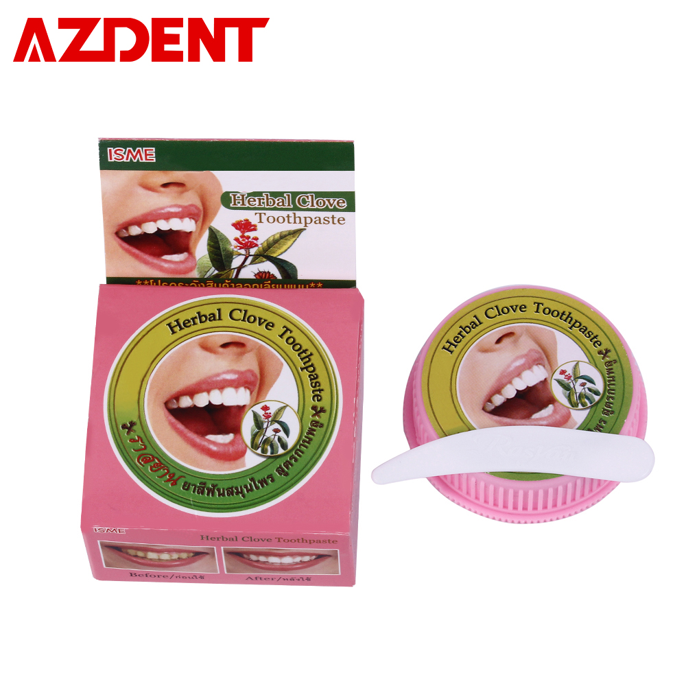 25g Natural Herbal Clove Toothpast Tooth Whitening Thailand Toothpaste Dentifrice Remove Stain Dental Antibacterial Allergic Gel