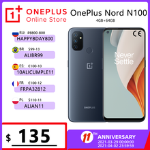 Глобальная версия OnePlus Nord N100 4GB 64GB Смартфон Snapdragon 460 90 Гц 6,52 'Экран 5000 мА/ч, 18 Вт быстрой зарядки 13MP тройной камеры