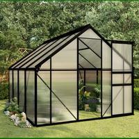 Invernaderos de jardín con marco impermeable Anti-UV al Aire Libre Verde, casas para plantas de jardín, cobertizo de jardín de aluminio 5 tamaños