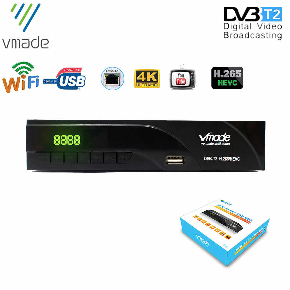 Vmade Upgrade FULL HD 1080P Set Top Box Digital TV Receiver DVB T2 Terrestrial Tuner Analogue to Digital Television Converter with Built-in WiFi