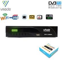 Vmade dijital HD TV alıcısı DVB T2 dijital TV Tuner dekoder H.265 DVB T/T2 desteği YouTube WIFI reseptör DVB T2 set üstü kutusu