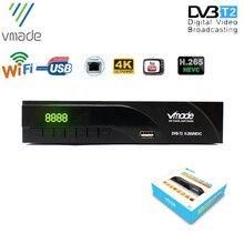 Vmadeデジタルhdテレビ受信機のdvb T2デジタルtvチューナーデコーダH.265 dvb t/T2サポートyoutubeのwifi受容体dvb T2セットトップボックス