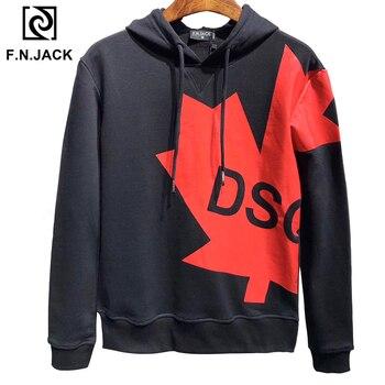 F.N.JACK  New Arrival Mens Casual Hoodie Sweatshirts Trending Men's D 2 Hoodies Autumn Sweatshirt Tops