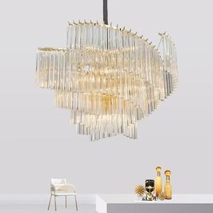 Image 3 - آرت ديكو الحديثة الثريا مصباح لغرفة المعيشة AC110V 220 فولت الذهب تركيبات إضاءة غرفة الطعام