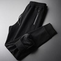 Add Velvet Autumn And Winter Elastic Waist Thick Trousers Men Plus Size 3XL 4XL Slim Sport Casual Men's Pants
