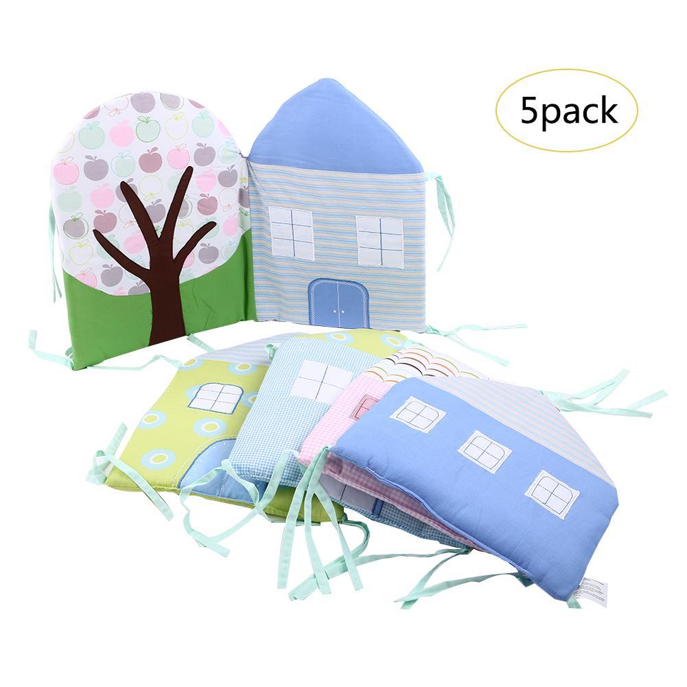 Crib Bumper Pad Cartoon Breathable Padded Mesh Crib Bumper Pad Baby's Seat Cushion Baby Supplies Anti-Collision In Stock