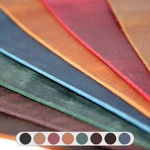2.0mm couro genuíno crazy horse couro material leathercraft vintage óleo curtido couro peça pull-up do couro